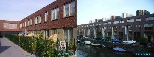 Europietiško būsto modelis Amsterdame. Kiekvienas butas turi atskirą įėjimą, individualią rekreacinę erdvę. Nuotraukos autoriaus.