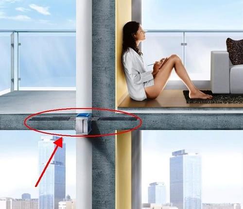 Įmontuojami laikantieji izoliacijos elementai leidžia apsisaugoti nuo šiluminės energijos praradimų per atsikišusias pastato dalis - balkonus, terasas ir pan.